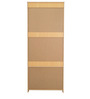 Etsuko Two Door Wardrobe with Three Drawers in Beech Finish by Mintwud