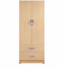 Two Drawer Door Wardrobe in Beige Colour by Pindia