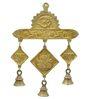 Handecor Brown Brass Shubh Labh Vinayaka Hanging Bells