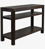 Two Tier Console Table in Dark Brown Colour by The Yellow Door