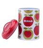 Typhoon Apple Heart Multicolor Cylindrical 1.2 L Sugar Storage Canister