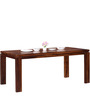 Peshtigo Six Seater Dining Table in Provincial Teak Finish by Woodsworth