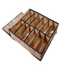 UberLyfe Brown Polyester and Cardboard 3-Piece Cloth/Underwear Organizer Box with Lid Set