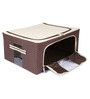 UberLyfe Brown Polyester with Steel Frame Clothes Storage Box