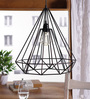 Ubu Cage Pendant in Black by Bohemiana