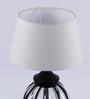 Ujjala Off White Cotton Table Lamp