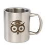 Ullu Da Pattha Designed 350 ML Coffee Mug in Silver Colour by Imagica