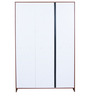 Ultima Three Door Wardrobe with Mirror in walnut Colour by HomeTown