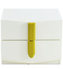 Ultra Night Stand with Two Drawers in Beige & Olive Colour by @home