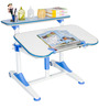 Universal Hydraulic Adjustable Study Table in Blue and White Color by Alex Daisy