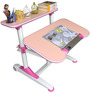 Universal Hydraulic Adjustable Study Table in Pink and White Color by Alex Daisy
