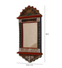 Unravel India Brown Wood Warli Painted Wall Mirror