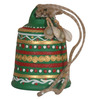 Unravel India Multicolour Terracotta Hand Painted Hanging Bell