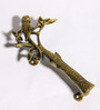 Unravel India Parrot Brass Door Handle - Set of 2
