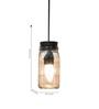 Untold Homes Black Glass & Cork Mason Jar 2 Lights Pendant