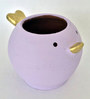 Uru Products Handpainted Bird Planter in Purple