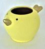Uru Products Handpainted Bird Planter in Yellow