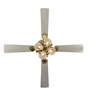 Usha Fontana Orchid Gold Ivory Ceiling Fan with Light