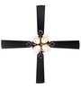 Usha Fontana Lotus Black Chrome Ceiling Fan with Light