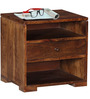 Winona Bed Side Table in Provincial Teak Finish by Woodsworth