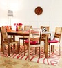 Oregon Six Seater Dining Set in Natural Sheesham Finish by Woodsworth