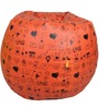 Printed Bean Bag Cover in Red Colour by Orka