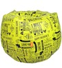 VALENTINE SPECIAL Printed Bean Bag Cover in Yellow Colour by Orka