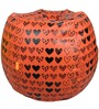 VALENTINE SPECIAL Printed Filled Bean Bag in Red Colour by Orka