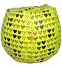 VALENTINE SPECIAL Printed Filled Bean Bag in Yellow Colour by Orka