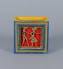 VarEesha Blue Mdf Hand Crafted Dhokra Pen Stand