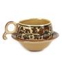 VarEesha Mughal Brown Ceramic 125 ML Cup & Saucer - Set of 6