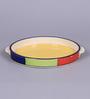 VarEesha Multicolour Ceramic Pizza Plate