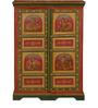 Adhirajya Hand Painted Almirah (Wardrobe) by Mudramark