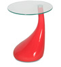 Vegas Corner Table in Red Finish by Godrej Interio