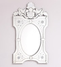 Clement Decorative Mirror in Silver by Amberville