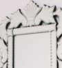 Corby Decorative Mirror in Silver by Amberville