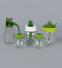 Herevin Venezia Siena Set - 2 Spice Shakers, 1 Sauce Spice Jar, 1 Sugar & 1 Liquid Dispenser