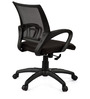 Vento Medium Back Ergonomic Chair in Black Colour by Debono