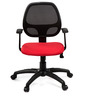 Vento Medium Back Ergonomic Chair in Red & Black Colour by Debono