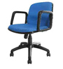 Venus Medium Back Ergonomic Chair in Blue Colour by Starshine
