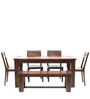 Venus Six Seater Dining Set with Bench by HomeTown