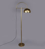 Veria Golden Metal Floor Lamp by Bohemiana