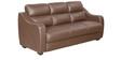 Vida Three Seater Sofa in Burgundy Colour by Godrej Interio