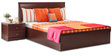 Vienna King Bed with Hydraulic Storage in Red Colour by Durian