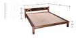 Visaya King Size Bed in Provincial Teak Finish by Mudramark
