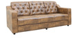 Vista Three Seater Sofa in Dusty Brown Leatherette by Sofab