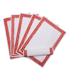 Vista Home Fashion Red & White Super Quality Cotton Table Placemats - Set Of 6