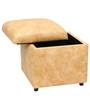 Vicar Storage Ottoman in Beige Colour by SIWA Style