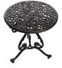 Victorian Antique Black Cast Aluminium Table and 4 Chair by Karara Mujassme