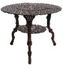 Victorian Style Antique Copper Cast Aluminium Round Table and 2 Chair by Karara Mujassme
